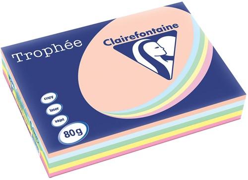 Clairefontaine Trophée Pastel A3 geassorteerde kleuren, 80 g, pak van 500 vel