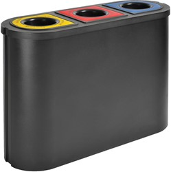 Eko afvalscheider Triomf, inhoud 3x45 L, zwart