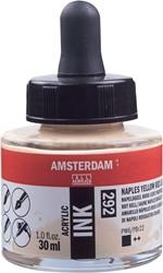 Amsterdam acryl inkt, flacon van 30 ml, napelsgeel rood licht