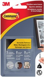 Command fotolijststrip, small, draagvermogen 1,8 kg, zwart, blister van 8 stuks