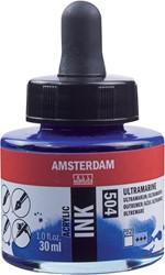 Amsterdam acryl inkt, flacon van 30 ml, ultramarijn