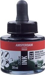 Amsterdam acryl inkt, flacon van 30 ml, oxydzwart