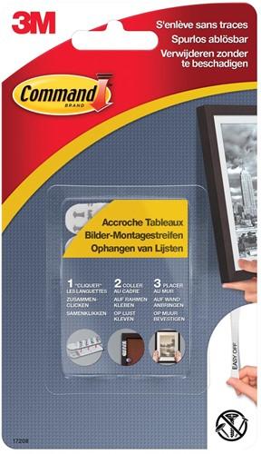Command fotolijststrip voor stabilisatie, medium, wit, blister van 8 stuks