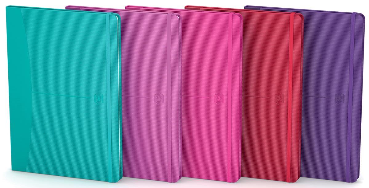 Oxford Signature business journal, ft A5, gelijnd, 80 vel, soft touch kaft, assorti bright