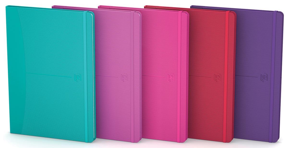 Oxford Signature business journal, ft A5, geruit 5 mm, 80 vel, soft touch kaft, assorti bright