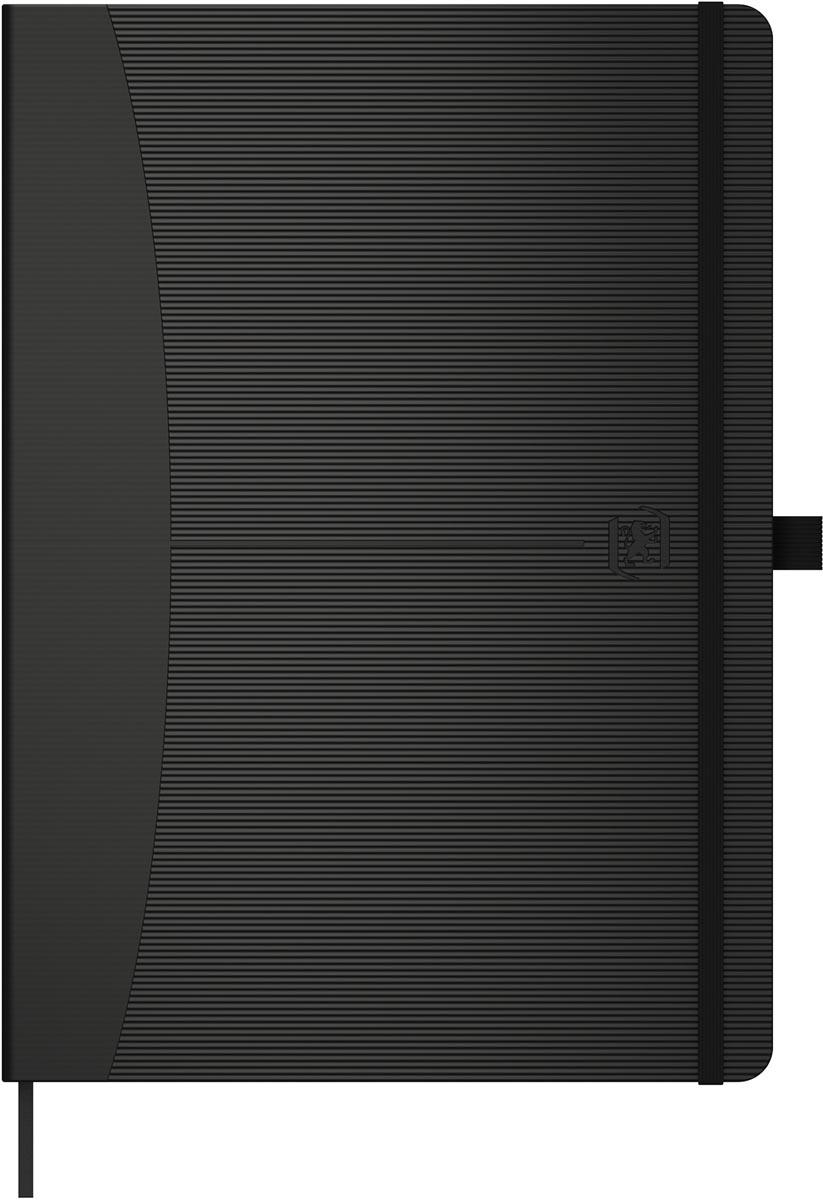 Oxford Signature Bullet Journal ft A5, DOT, 96 vel, soft touch reliëf kaft, zwart