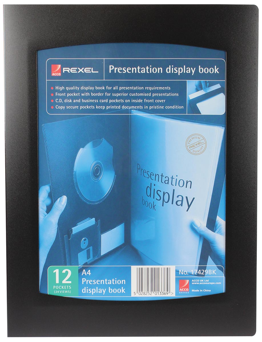 Rexel REXEL DISPLAYBOOK 12TAS A4 ZW (17429BK)