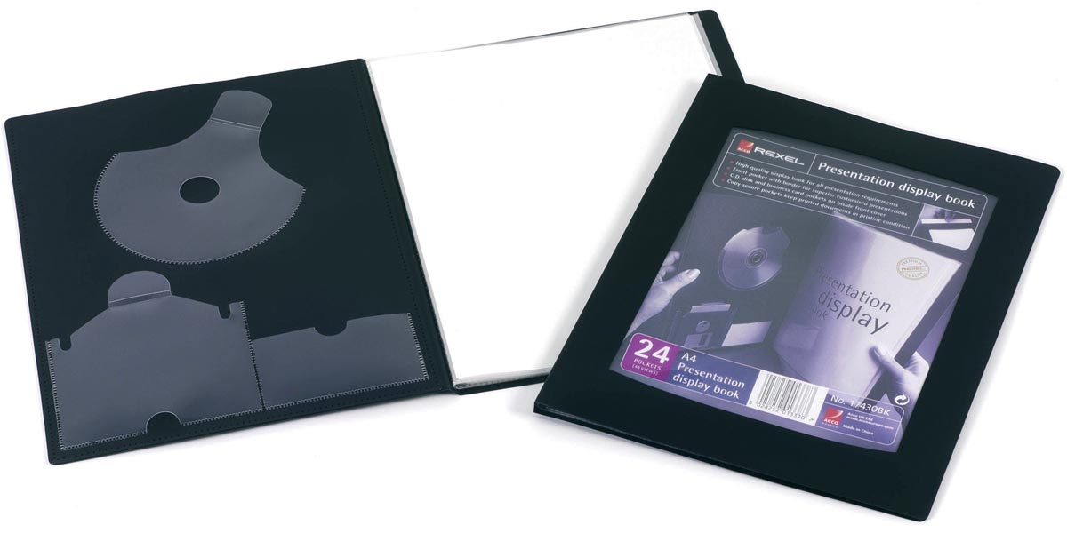 Rexel showalbum Professional Display Book voor ft A4, 24 tassen