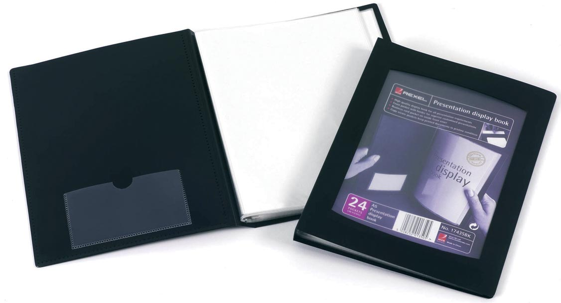 Rexel REXEL DISPLAYBOOK 24TAS A5 ZW (17435BK)