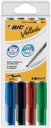 Bic whiteboardmarker Velleda 1741 etui van 4 stuks in geassorteerde kleuren