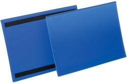 Durable magnetische labelhoes blauw, pak van 50 stuks, ft A4 horizontaal