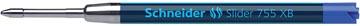 Balpenvulling Schneider Slider Jumbo 755 blauw extra breed