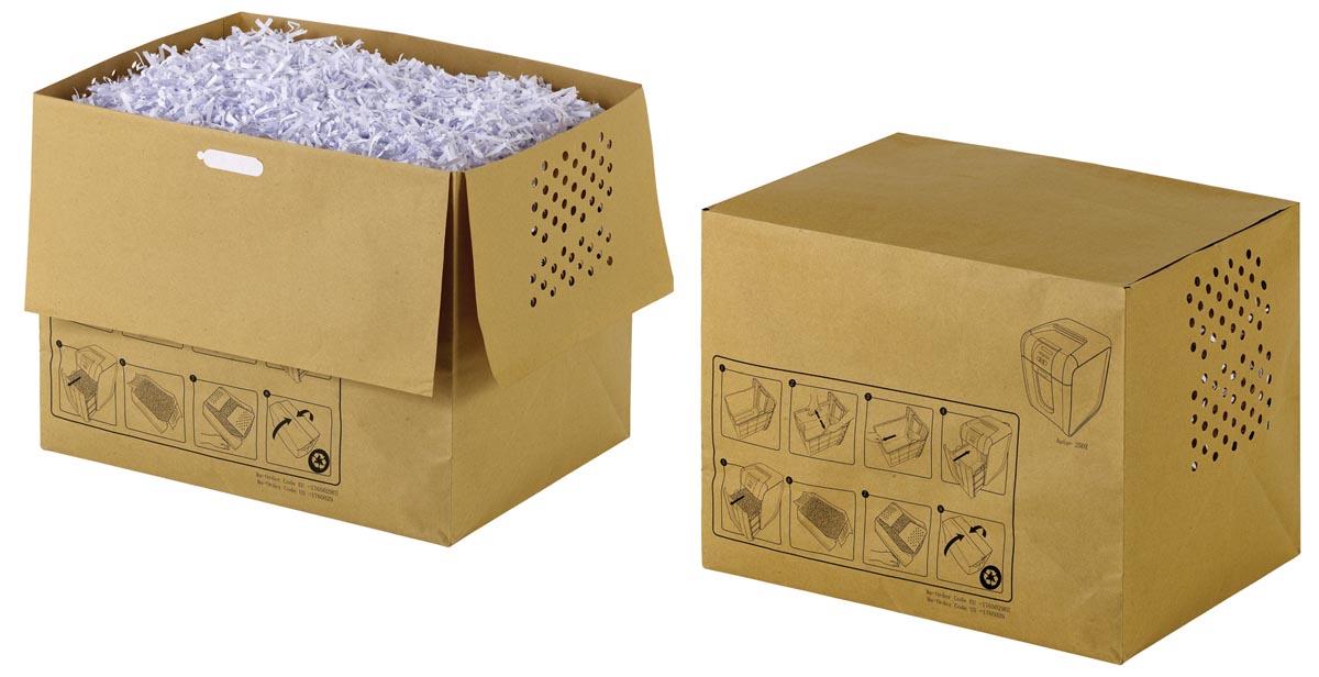 Rexel recycleerbare opvangzakken voor papiervernietiger 40 l, voor Auto+250 en 300X/M, pak van 20 za