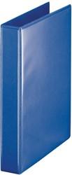 Esselte personaliseerbare ringmap, rug van 3,8 cm, 4 D-ringen 20 mm, blauw