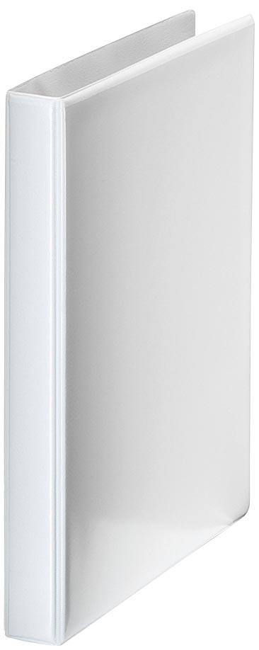 Esselte personaliseerbare ringmap, rug van 6,3 cm, 4 D-ringen van 40 mm, wit