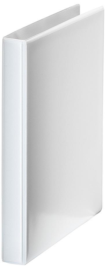 Esselte personaliseerbare ringmap, rug van 7,7 cm, 4 D-ringen van 52 mm, wit