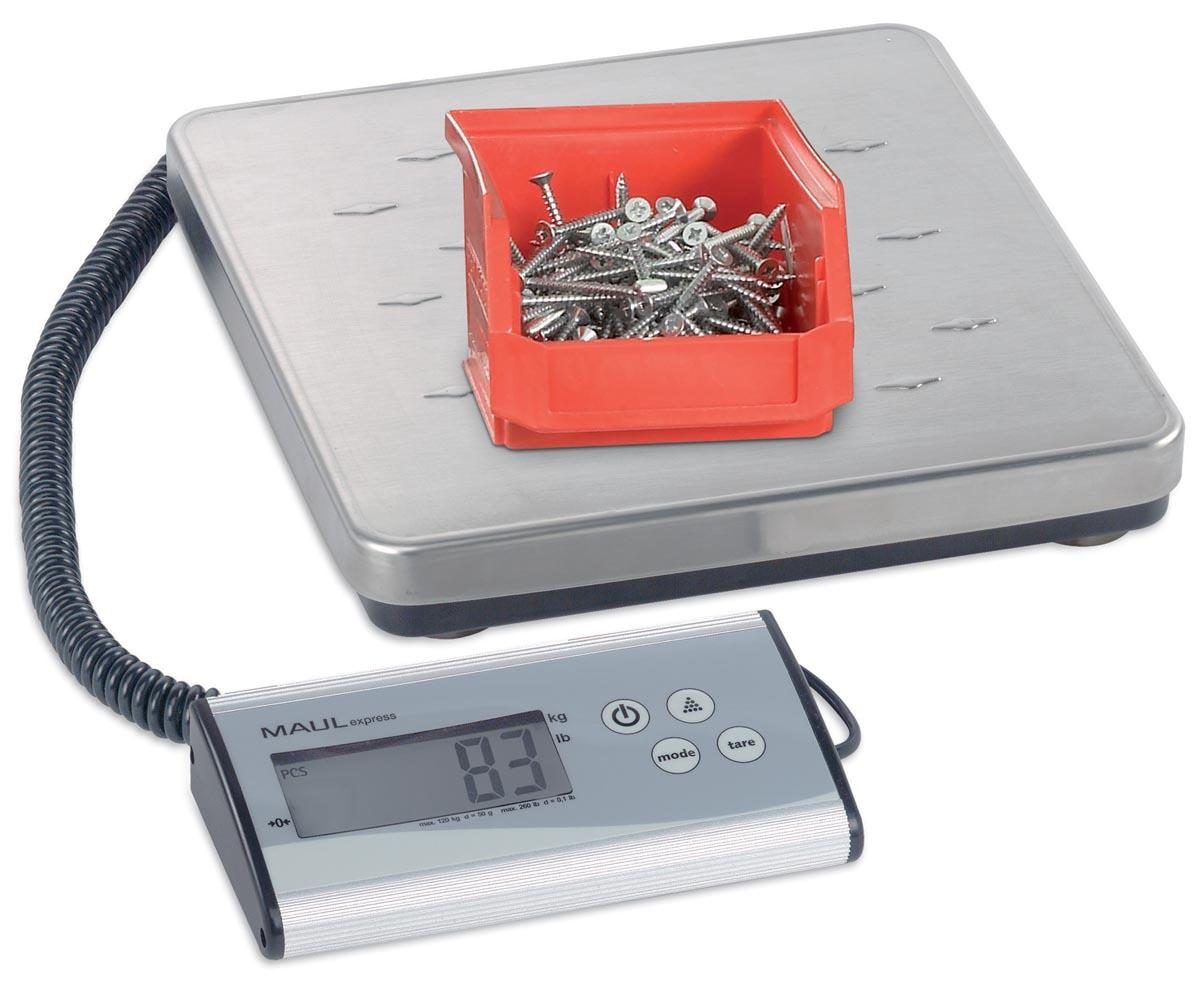 Maul pakketweegschaal MAULexpress, weegt tot 120 kg, gewichtsinterval van 50 gram