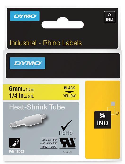 Dymo 6mm rhinopro heat shrink tubes
