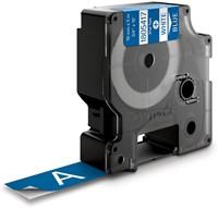 Dymo RHINO vinyltape 19 mm, wit op blauw-2