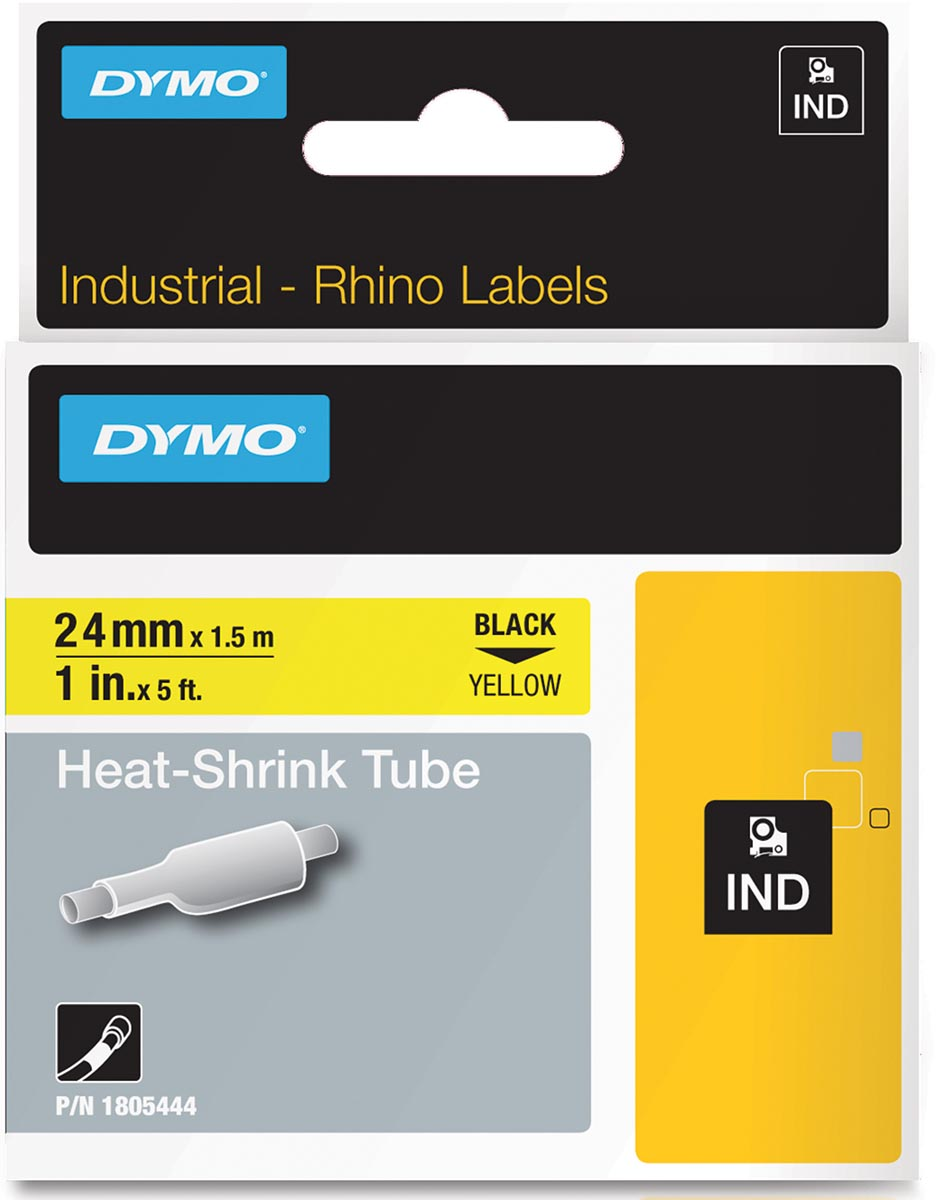 Dymo 24mm rhino black on yellow
