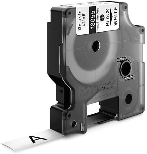 Dymo RHINO krimpkous 12 mm, zwart op wit-2