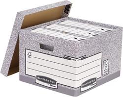 Bankers Box formaat 38 x 28,7 x 43 cm, pak van 10 stuks, grijs