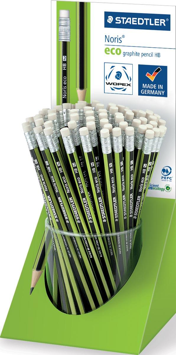 Staedtler potlood met gum Noris Eco, display met 72 stuks