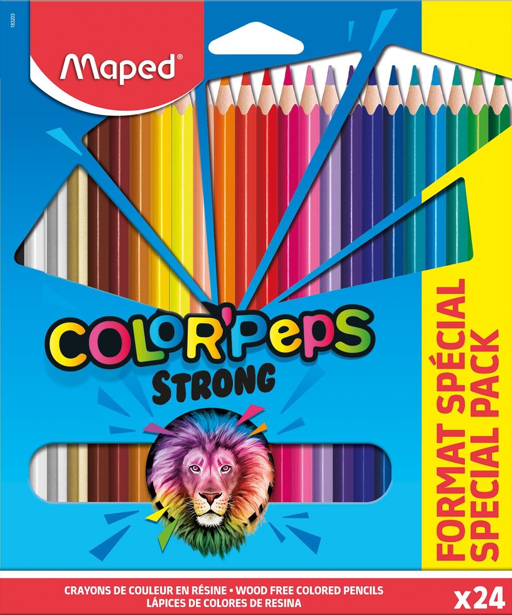 Maped kleurpotlood Color'Peps 20 kleurpotloden + 4 fluo