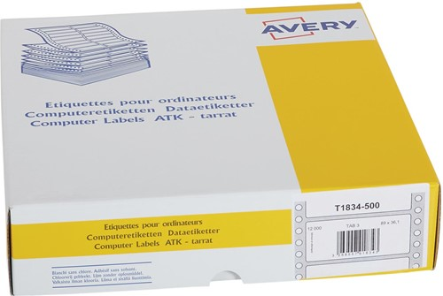 Avery Witte computeretiketten ft 89 x 36,1 mm (b x h), 12.000 stuks