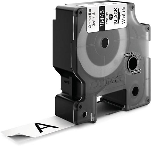 Dymo RHINO vinyltape 19 mm, zwart op wit-2