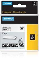 Dymo RHINO vinyltape 19 mm, zwart op wit
