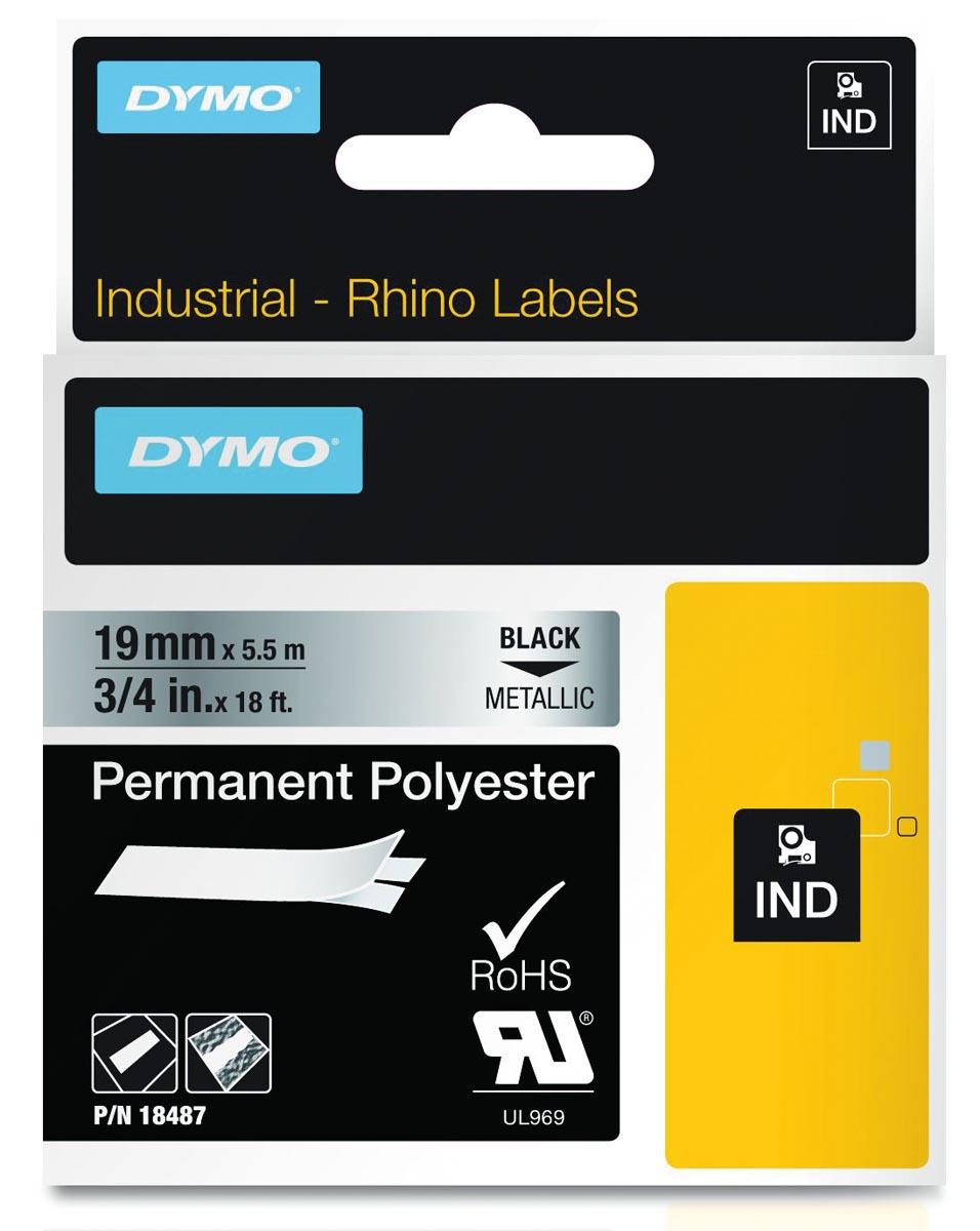 DYMO Rhino Labeltape Tapekleur: Metaal Tekstkleur:Zwart