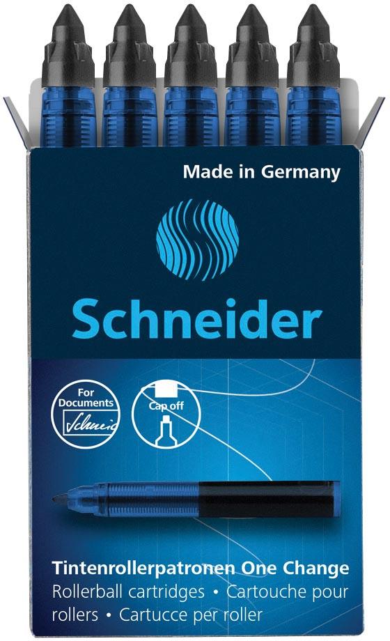Schneider vulling One Change, doos van 5 stuks, zwart