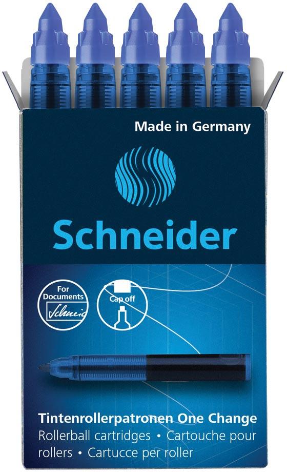 Schneider vulling One Change, doos van 5 stuks, blauw