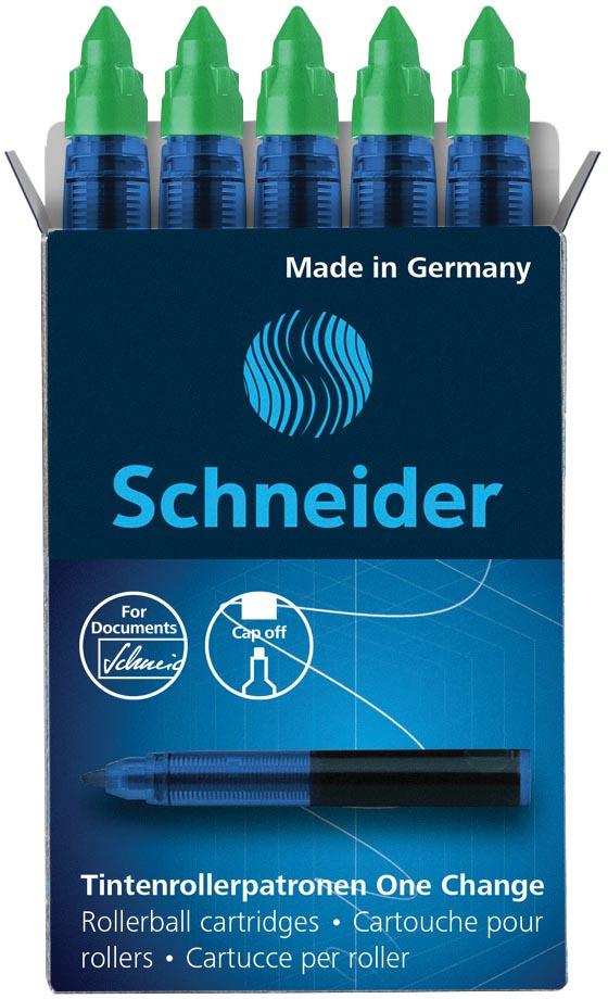 Schneider vulling One Change, doos van 5 stuks, groen