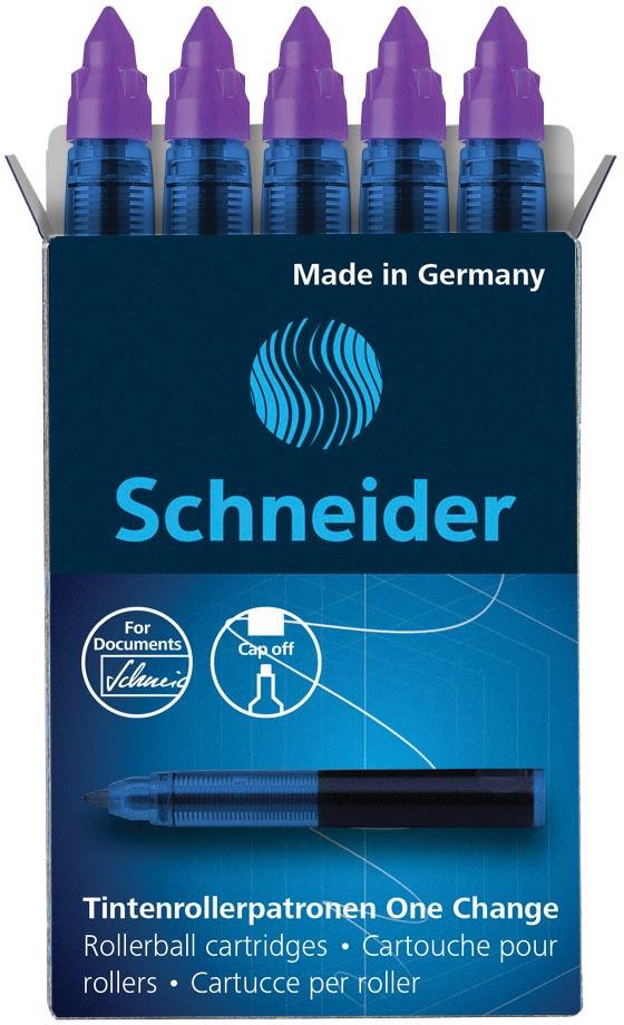 Schneider vulling One Change, doos van 5 stuks, violet