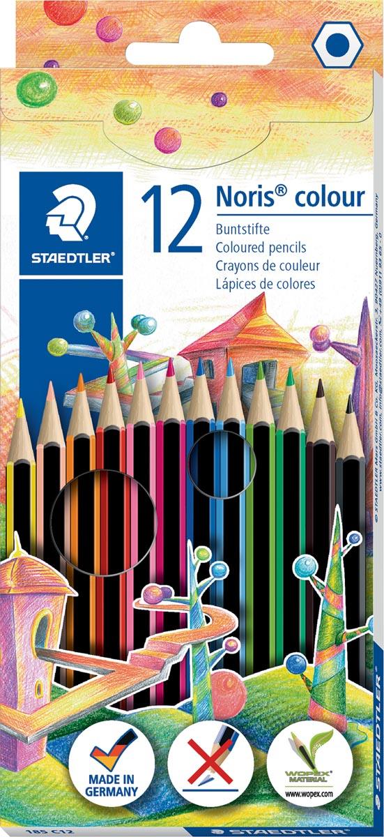 Staedler kleurpotloden Noris Colour, ophangdoos met 12 stuks in geassorteerde kleuren