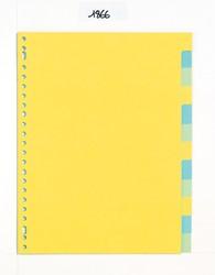 Class'ex tabbladen 12 tabs (zonder inlegvel), 23-gaatsperforatie, karton, geassorteerde kleuren