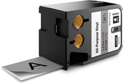 Dymo XTL tape ft 41 mm, zwart op grijs, vinyl