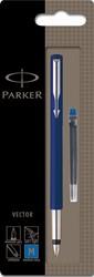 Parker Collectie Vector Standard vulpen, houder in geassorteerde kleuren, op blister