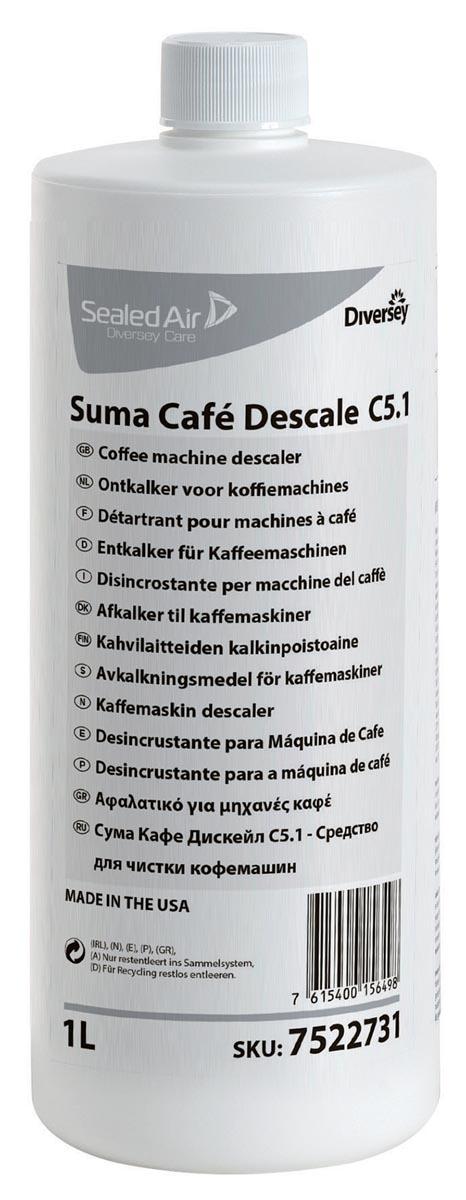 Diversey ontkalker voor koffiemachines, flacon van 1 liter
