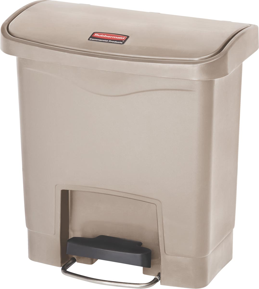 Rubbermaid Slim Jim Step-On-container Front Step, beige, 15 l