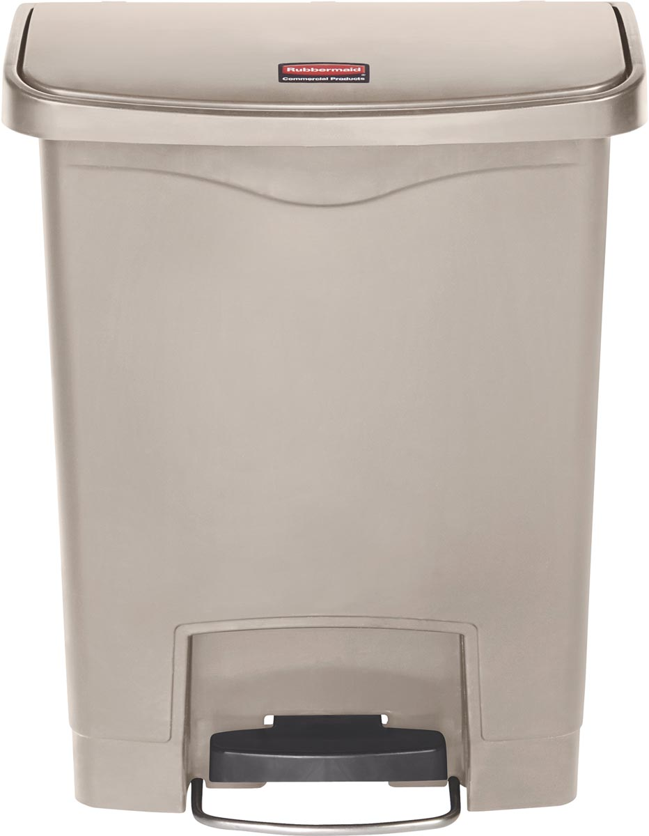 Rubbermaid Slim Jim Step-On-container Front Step, beige, 30 l
