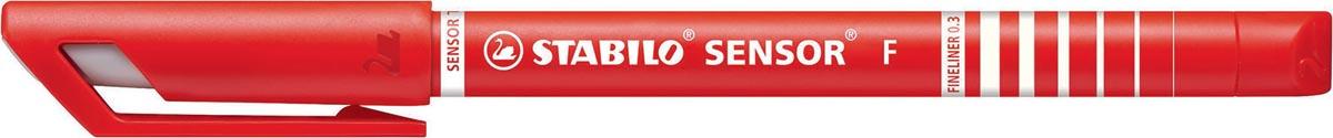 Stabilo fineliner SENSOR (serie 187 - 189), rood