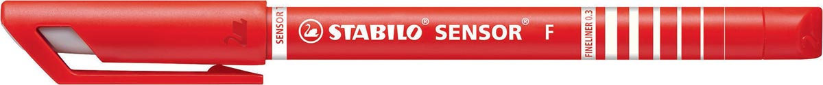 STABILO SENSOR fineliner, 0,3 mm, rood
