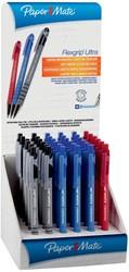Paper Mate balpen Flexgrip Ultra RT, display met 36 stuks in geassorteerde kleuren