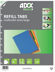 Adoc Toebehoren voor schrift Colorlines 6 tabbladen, geassorteerde kleuren