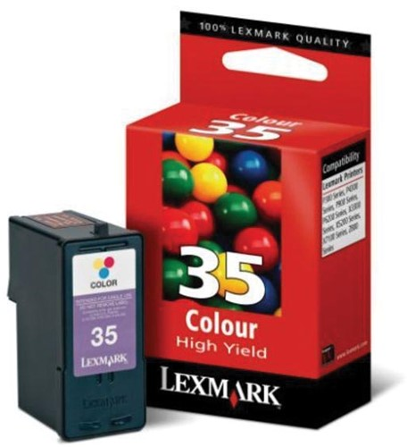 Lexmark inktcartridge 35 XL, 3 kleuren, 450 pagina's - OEM: 18C0035E