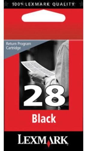 Lexmark inktcartridge 28 zwart, 175 pagina's - OEM: 18C1428E