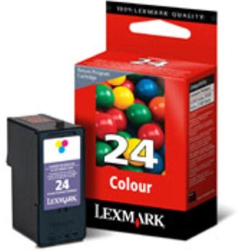 Lexmark inktcartridge 24, 3 kleuren, 185 pagina's - OEM: 18C1524E-2